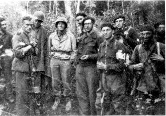 Brutal French Resistance Maquis fighters with American soldiers
