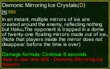 naruto castle defense 6.0 Demonic Mirroring Ice Crystals detail