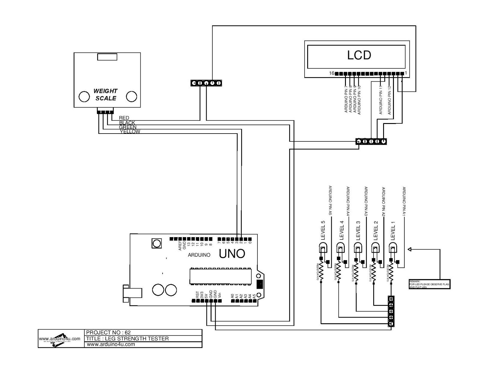 Projek Elektronik Arduino4u.com: 62.Leg Strength Tester