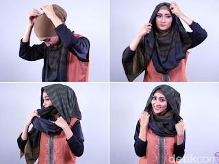 Tip:Tutorial Hijab Praktis Menutup Dada Hanya 3 Step