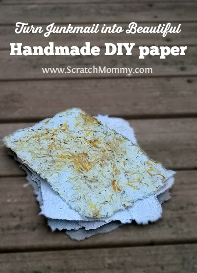 turn junkmail into beautiful handmade paper via: How To Just About Anything