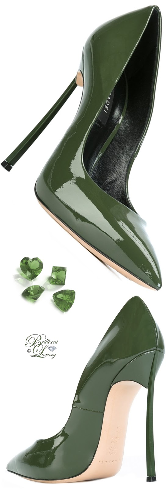 Casadei Green Stiletto Heel Pumps #shoes #pantone #brilliantluxury