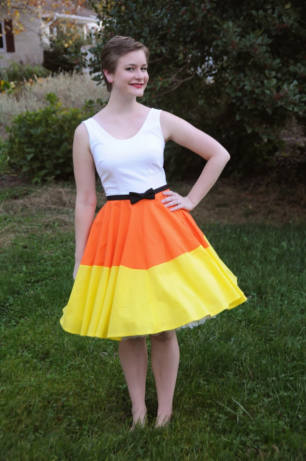 Halloween Week Costume Series Candy Corn Dress  sc 1 st  The Liveaboard Takes the Suburbs & The Liveaboard Takes the Suburbs: Halloween Week Costume Series ...