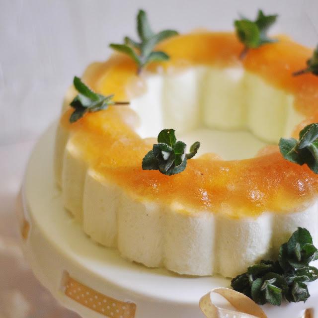 Cytrynowy sernik na zimno z galaretką herbacianą i pomarańczami |bez cukru i glutenu|