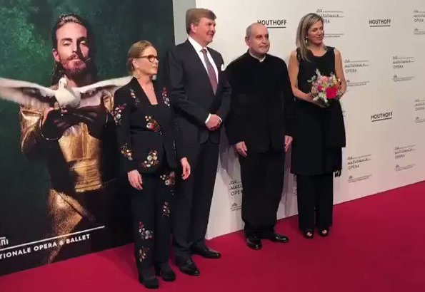 Queen Maxima attended premiere of 'Gurre-Lieder' opera performed at Dutch National Opera and Ballet