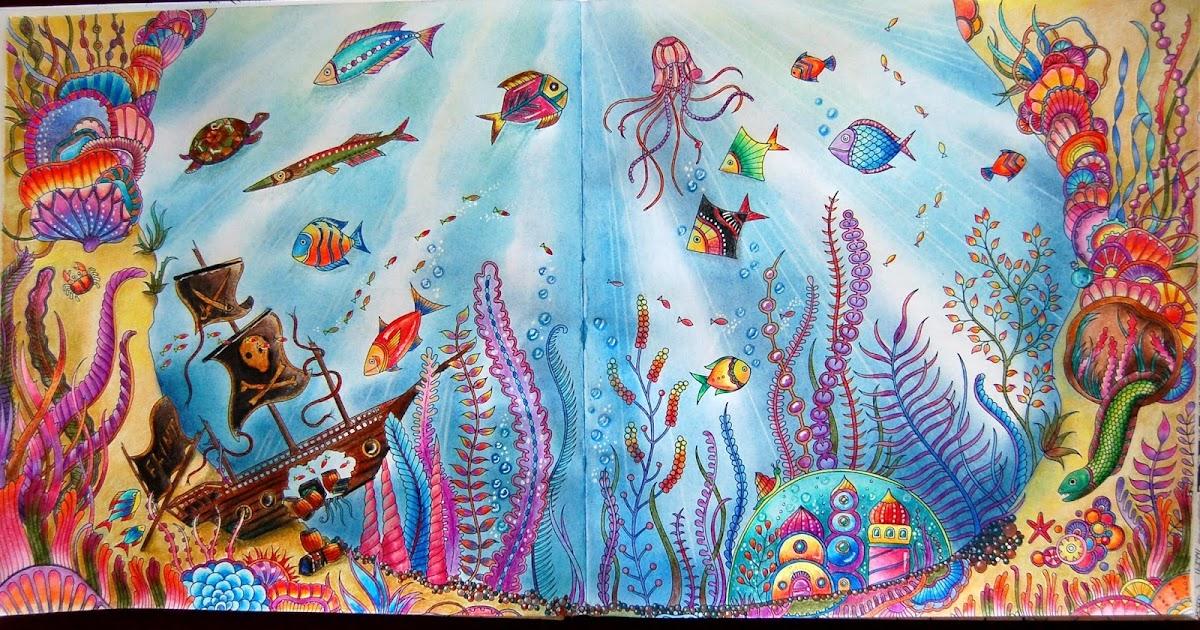 Раскраска антистресс затерянный океан картинки раскрашенные, днем рождения года