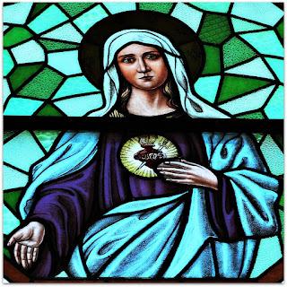 Nossa Senhora - Vitral da Igreja Matriz de Viamão