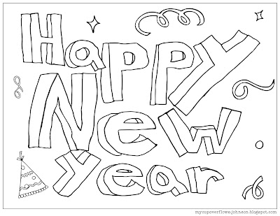 free New Year Coloring page