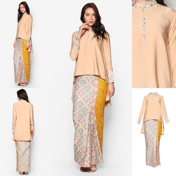 Baju Kurung Moden Kain Songket Fesyen Trend Terkini Baju Raya 2017