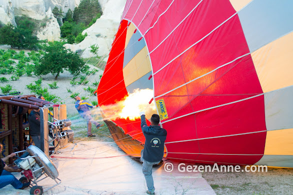 sıcak hava balonunun şişirilmesi, Kapadokya Balloons