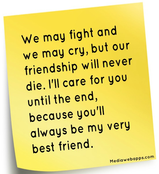 Fight For Friendship Quotes