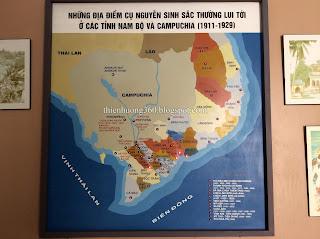 Những địa điểm cụ Nguyễn Sinh Sắc thường lui tới ở các tỉnh Nam Bộ và Campuchia