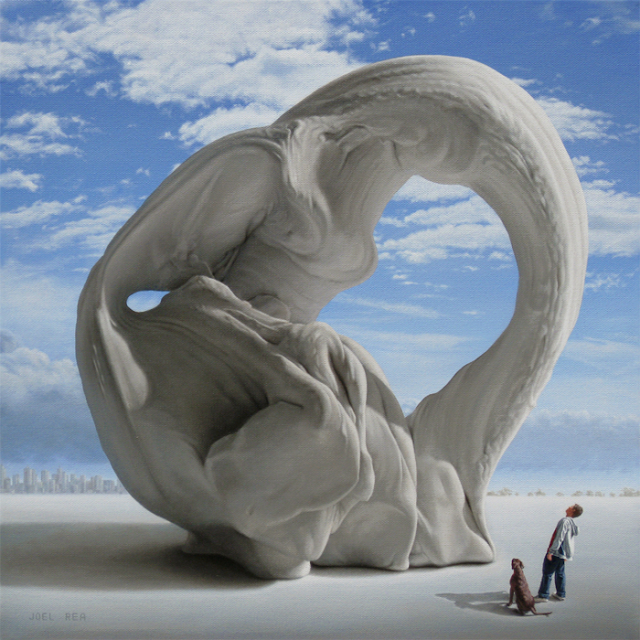 Green Pear Diaries, arte, pintura, Joel Rea, Lady of Monument