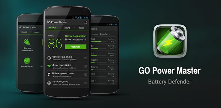 Aplikasi Penghemat Baterai di Android Terbaik - Go Power Master