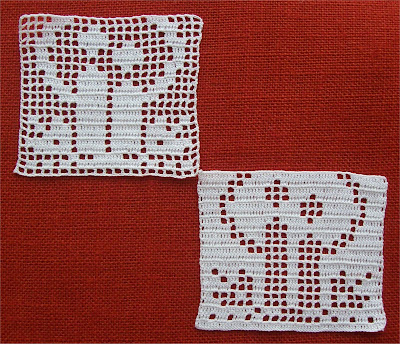 Filet Crochet Candles - Candele a Filet