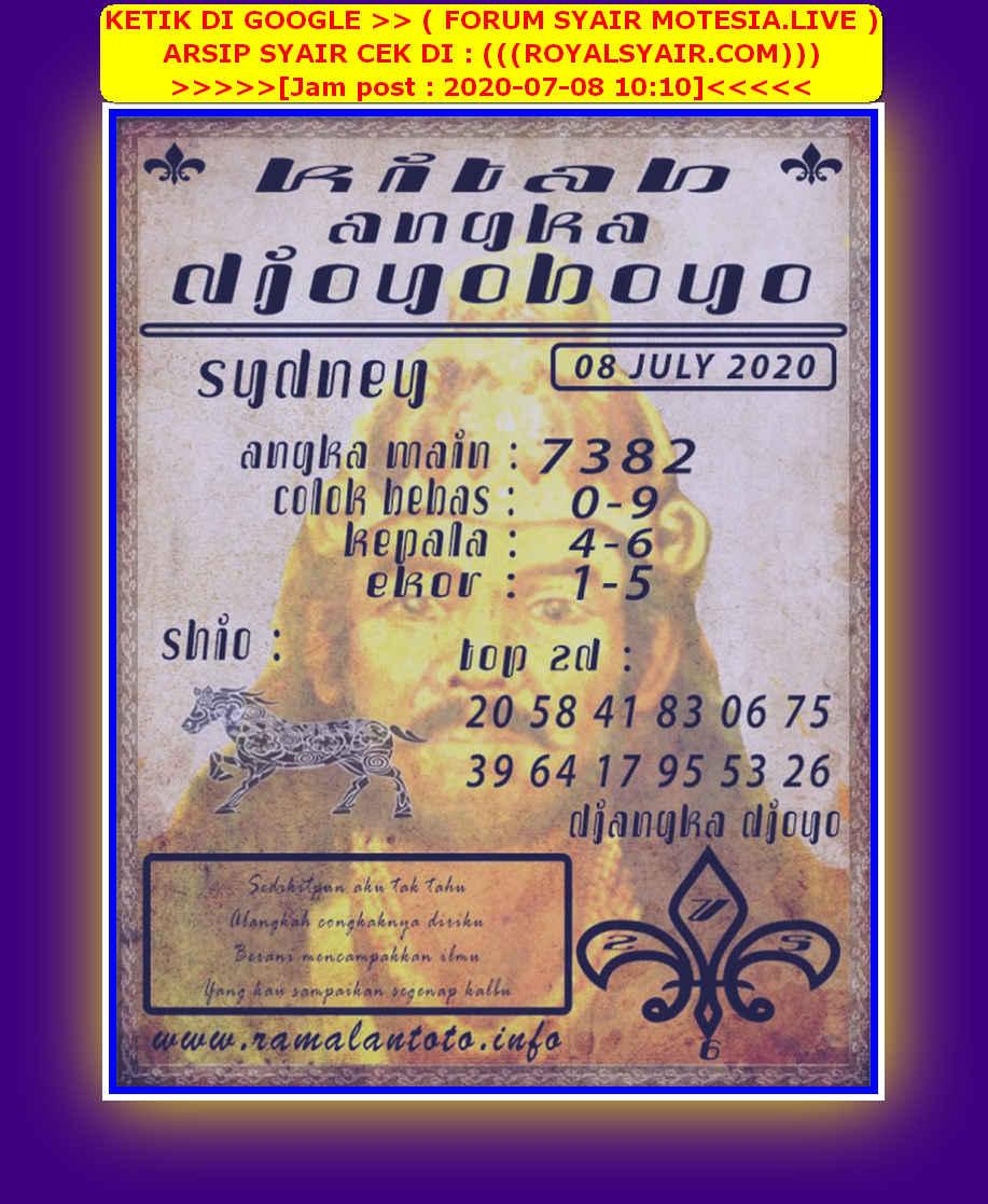 Kode syair Sydney Rabu 8 Juli 2020 163