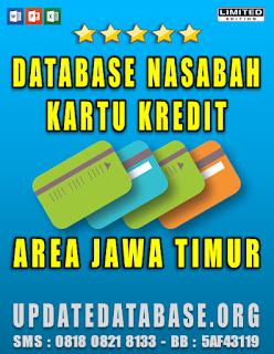 Jual Database Nasabah Kartu Kredit Jawa Timur