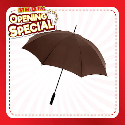 MR DIY Grand Opening Special Free Umbrella Promo