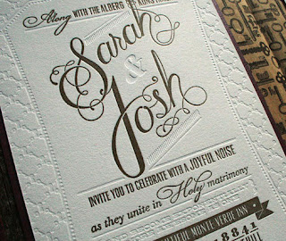 letterpress wedding invitations for inspiration