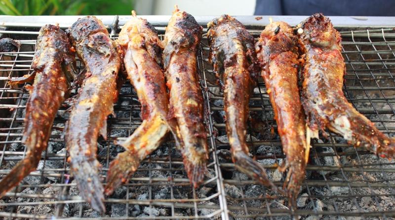 Cá thồi lồi nướng muối ớt