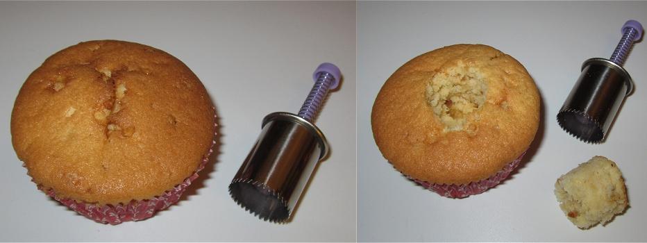 Gefüllte Cupcakes mit Haselnusskrokant á la Frankfurter Kranz Anleitung