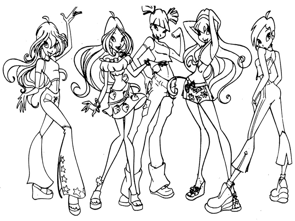 Winx club coloring pages printable realistic coloring pages for Winx club color pages