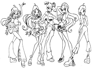Winx Club Printable Girls Coloring Pages