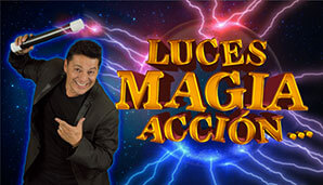JORGE REY presenta LUCES… MAGIA… ACCIÓN   Un plan en familia en Teatro Belarte...