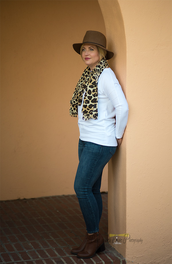 basics, accessories, leopard scarf, fall outfit, hat, wool hat, booties