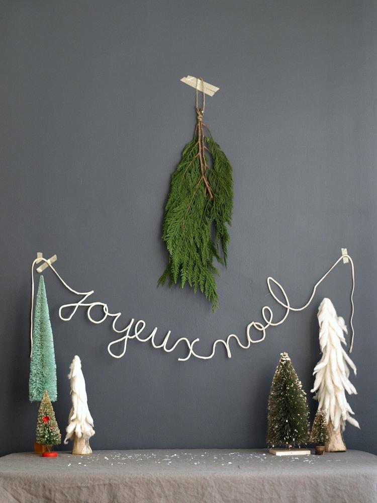 Diy Noel.Joyeux Noel Diy Christmas Garland