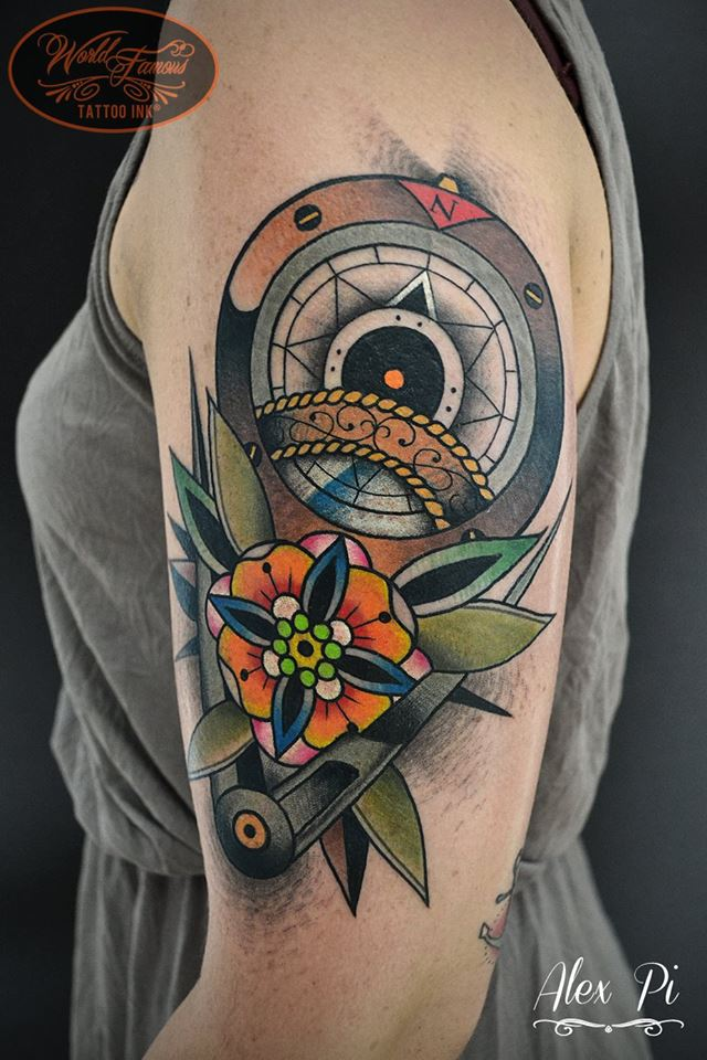 Images Of Traditional Nautical Compass Tattoo Rock Cafe