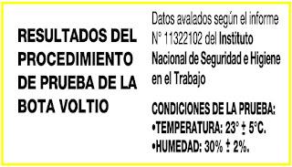 Pruebas de Seguridad del Instituto Nacional de Seguridad e Higiene en el Trabajo - Nº 11322102
