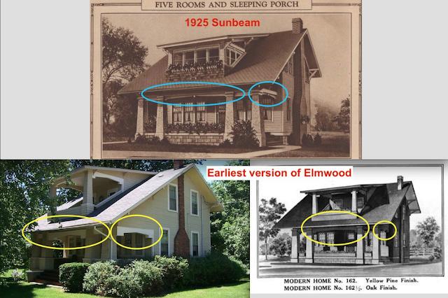 key stone element vs chunky element Sears Elmwood front porch vs Sears Sunbeam front porch