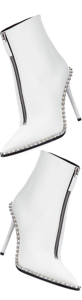 Alexander Wang Eri Leather Dual-Zip Bootie with Studs