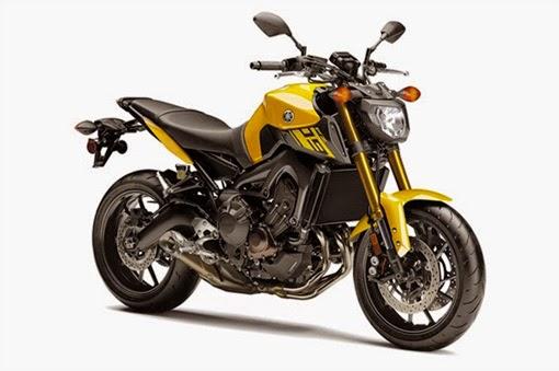 Yamaha FZ-09 Cadmium Yellow