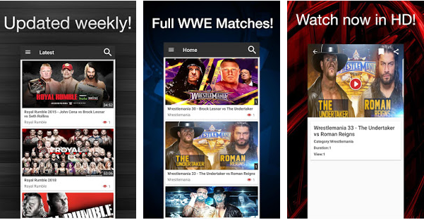 WWE TV Apk App For Android or Amazon Fire Devices - New Kodi
