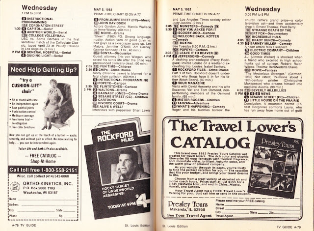 Garage Sale Finds: What was on TV May 1st through 7th, 1982