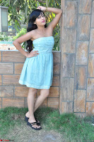 Sahana New cute Telugu Actress in Sky Blue Small Sleeveless Dress ~  Exclusive Galleries 032.jpg