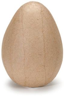 paper mache egg