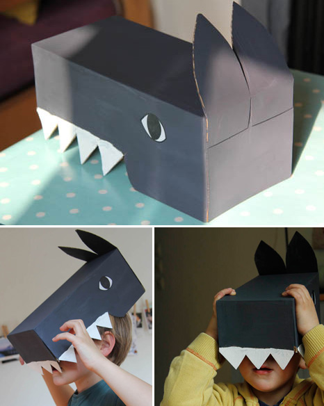 kidissimo facile fabriquer un d guisement de loup avec une bo te chaussures. Black Bedroom Furniture Sets. Home Design Ideas