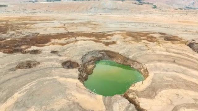 В районе Мертвого моря образовалось около 6500 карстовых воронок