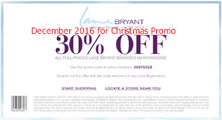 free Lane Bryant coupons december 2016