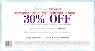 free Lane Bryant coupons december 2016