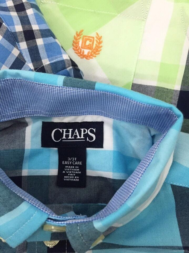 Áo sơ mi hiệu Chaps, xuất xịn, made in vietnam, size 2-10T.