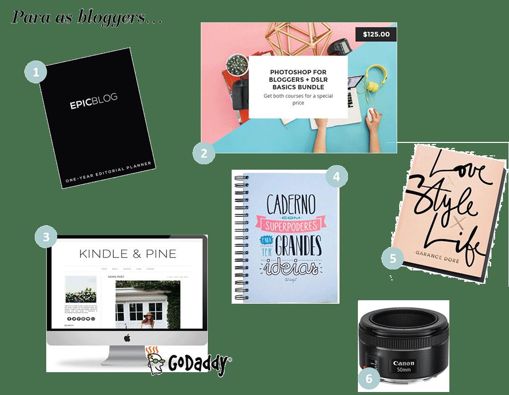 guia de presentes para bloggers