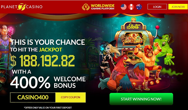 400% welcome bonus and 25 free spins | Planet7 casino