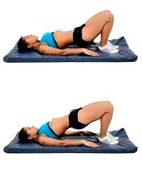 Levantamiento cadera ejercicio mujer