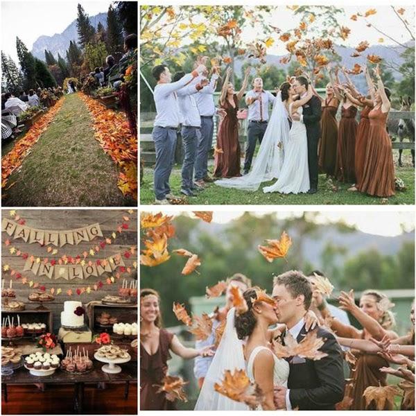 dekoracje stołu ślubnego na jesień