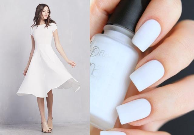 Beyaz Renk Elbiseye Ne Renk Oje Yakışır?