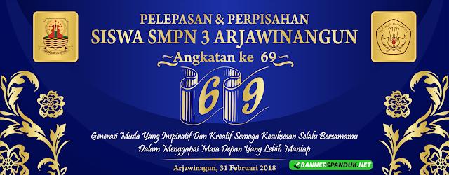 Banner Spanduk Pelepasan & Perpisahan Siswa Sekolah CDR